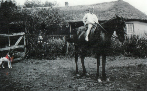 One of David's first rides